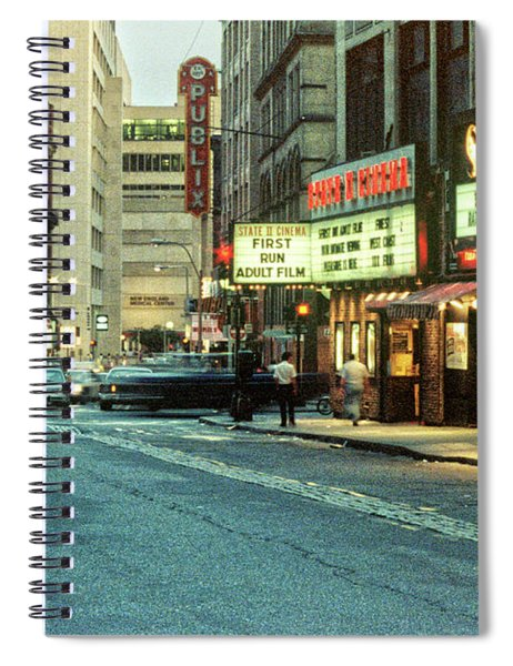 1980s Combat Zone Adult Entertainment Spiral Notebook