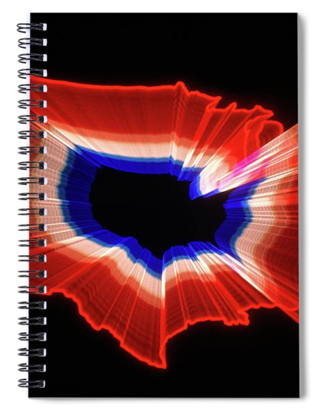 1980s Luminous Zoomed Red White Spiral Notebook