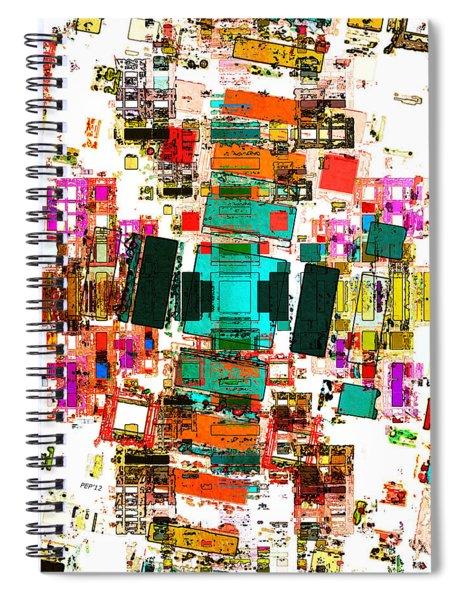 Abstract Geometric Art Spiral Notebook