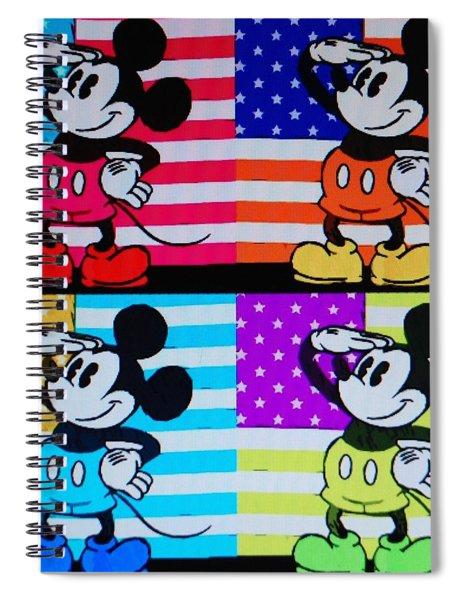 American Mickey Spiral Notebook