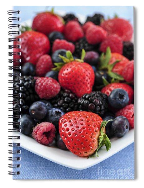 Assorted Fresh Berries Spiral Notebook