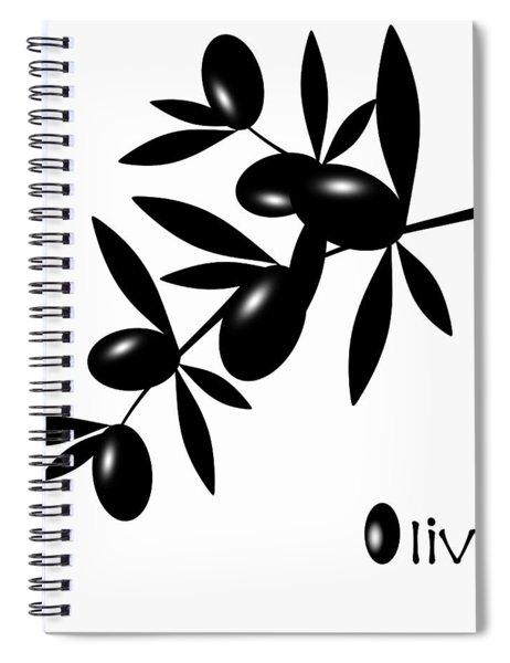 Black Olive Spiral Notebook