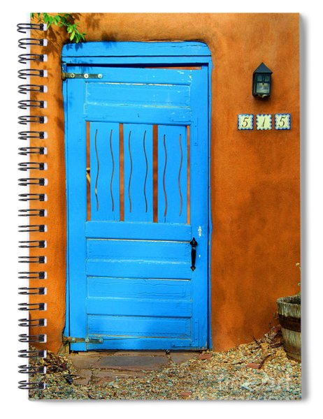 Blue Door In Santa Fe Spiral Notebook