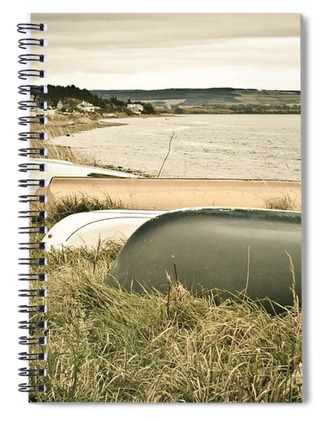 Boats At Findhorn Spiral Notebook