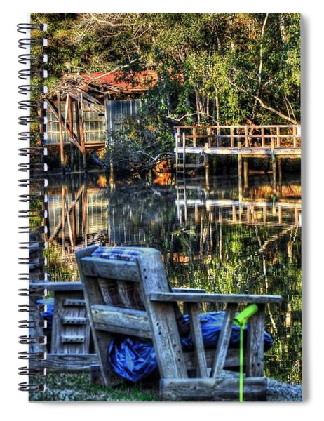 2 Chairs On The Magnolia River Spiral Notebook