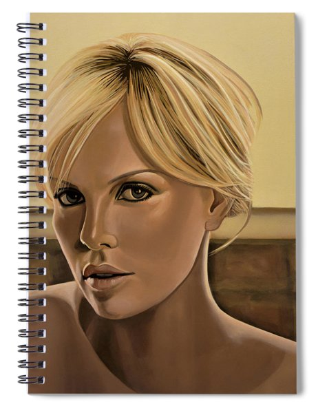 Charlize Theron Painting Spiral Notebook