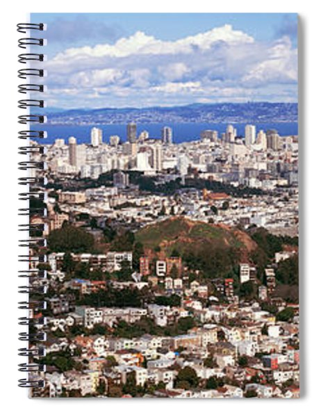 Cityscape Viewed From The Twin Peaks Spiral Notebook
