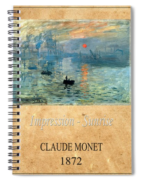 Claude Monet 2 Spiral Notebook