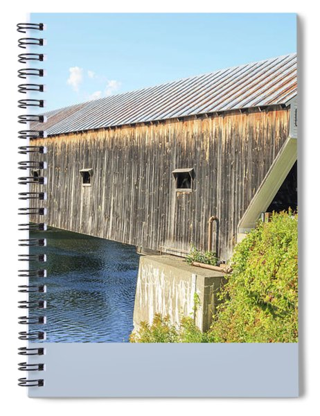 Spiral Notebook featuring the photograph Cornish-windsor Covered Bridge IIi by Edward Fielding