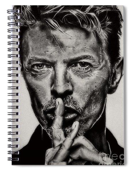 David Bowie - Pencil Abstract Spiral Notebook