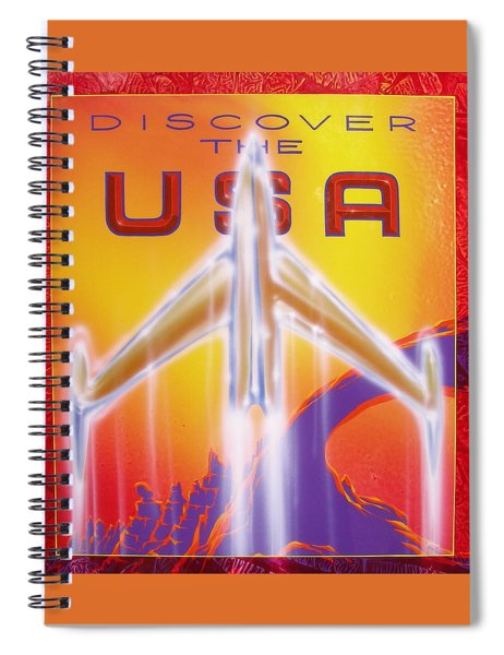Discover The Usa Spiral Notebook