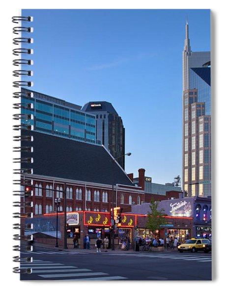 Spiral Notebook featuring the photograph Downtown Nashville by Brian Jannsen