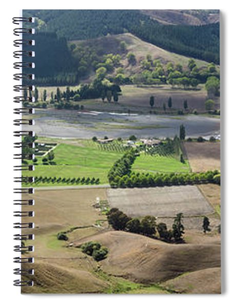 Elevated View Of Vineyard Spiral Notebook