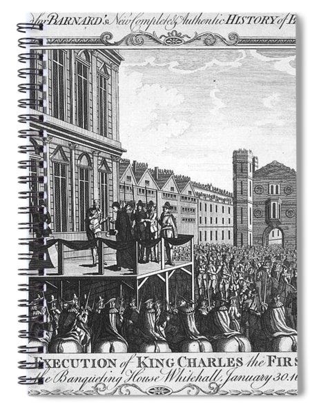 Execution Of Charles I Spiral Notebook