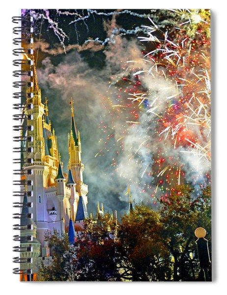 Fireworks Cinderellas Castle Walt Disney World Spiral Notebook