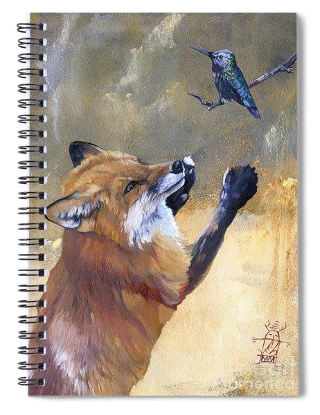 Fox Dances For Hummingbird Spiral Notebook