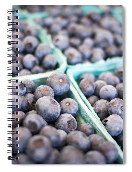 Fresh Blueberries Spiral Notebook