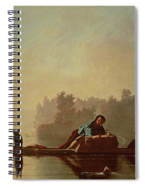 Fur Traders Descending The Missouri Spiral Notebook