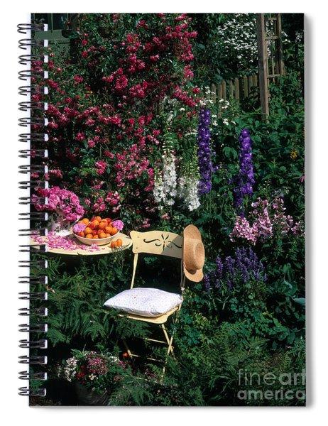 Garden With Chair Spiral Notebook