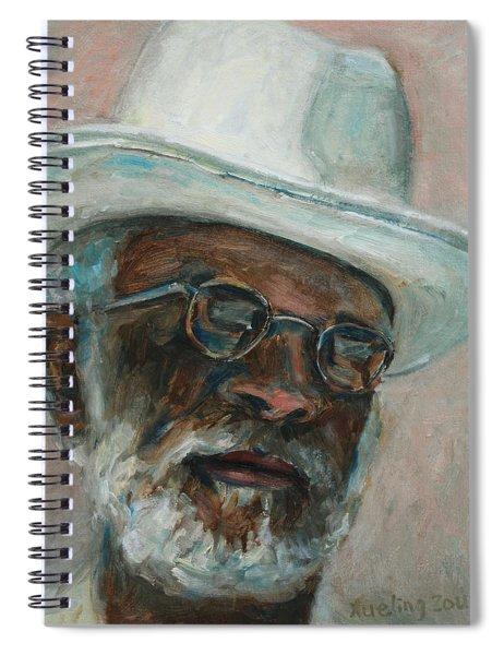 Gray Beard Under White Hat Spiral Notebook