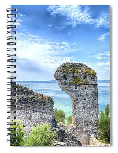 Grotto Catullus In Sirmione At The Lake Garda Spiral Notebook