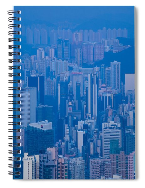 High Angle View Of Buildings Spiral Notebook