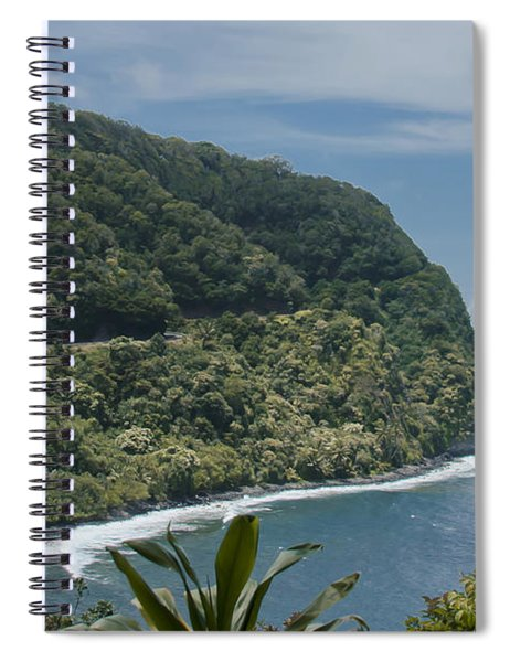Honomanu - Highway To Heaven - Road To Hana Maui Hawaii Spiral Notebook