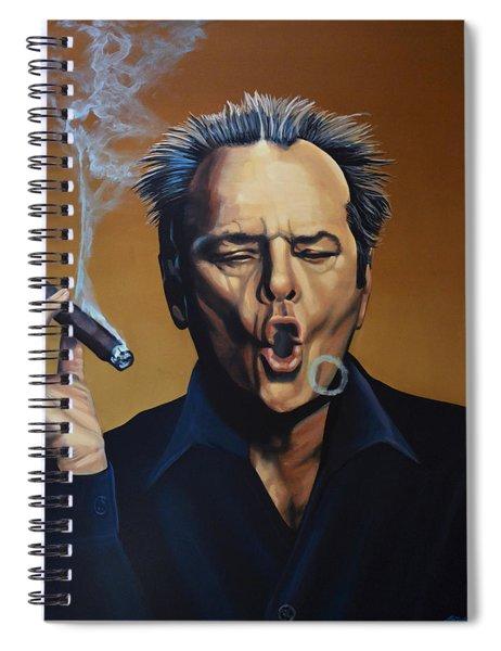 Jack Nicholson Painting Spiral Notebook