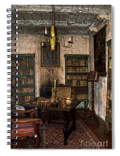 Junipero Serra Library In Carmel Mission Spiral Notebook
