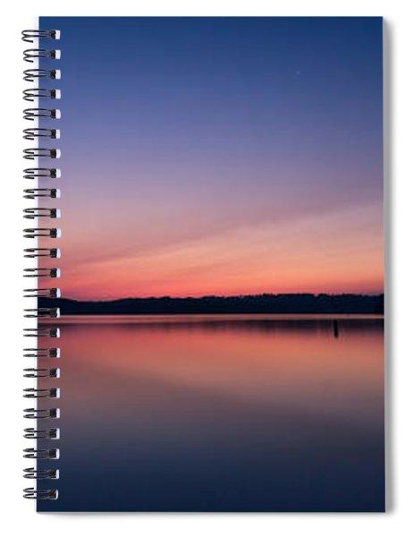 Lake Lanier After Sunset Spiral Notebook
