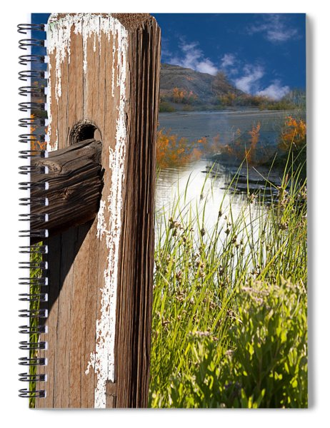 Landscape With Fence Pole Spiral Notebook