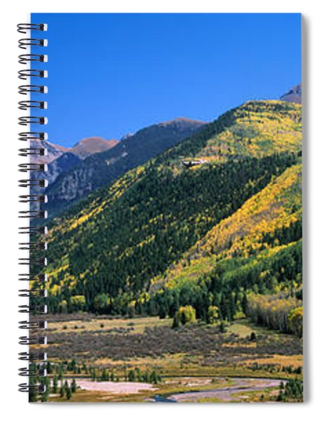 Landscape With Mountain Range Spiral Notebook