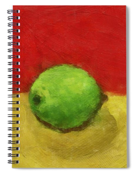 Lime With Red And Gold Spiral Notebook