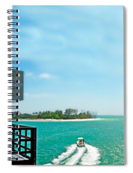 Longboat Pass Drawbridge Spiral Notebook