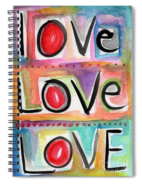 Love Spiral Notebook by Linda Woods