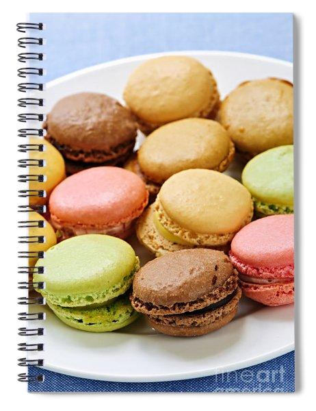 Macaroon Cookies Spiral Notebook