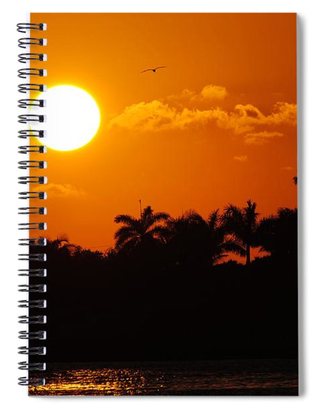 Marco Island Sunset Spiral Notebook