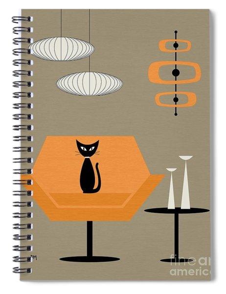 Mod Chair In Orange Spiral Notebook