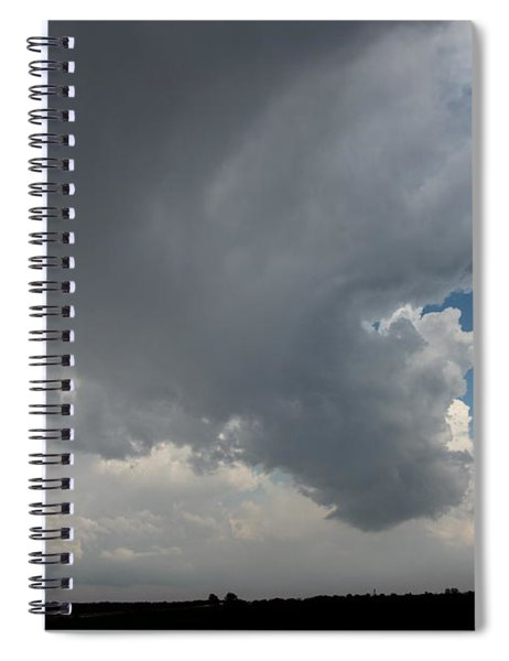 Spiral Notebook featuring the photograph More Strong Cells Moving Over South Central Nebraska by NebraskaSC