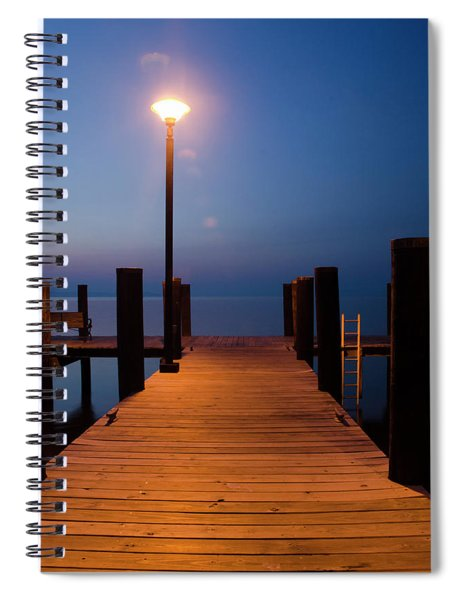 Morning On The Dock Spiral Notebook