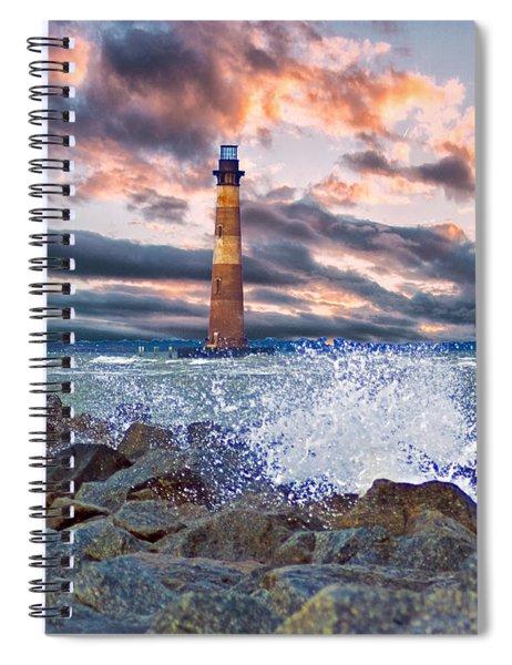 Morris Island Lighthouse Spiral Notebook