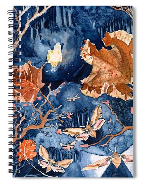 Moths To A Flame Spiral Notebook