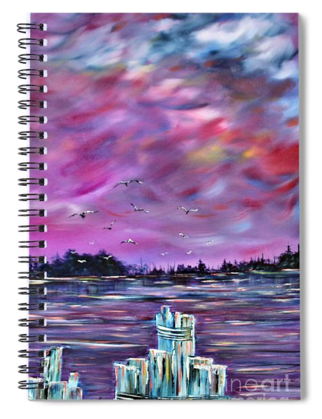 Neuse River Gulls North Carolina Spiral Notebook