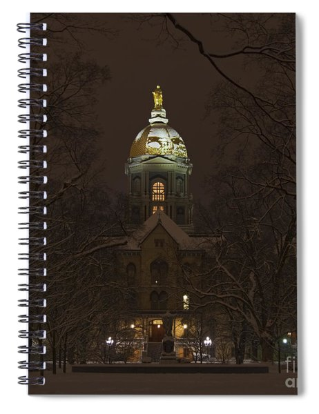 Notre Dame Golden Dome Snow Spiral Notebook