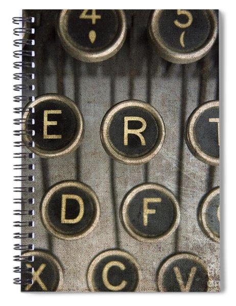 Old Typewrater Spiral Notebook