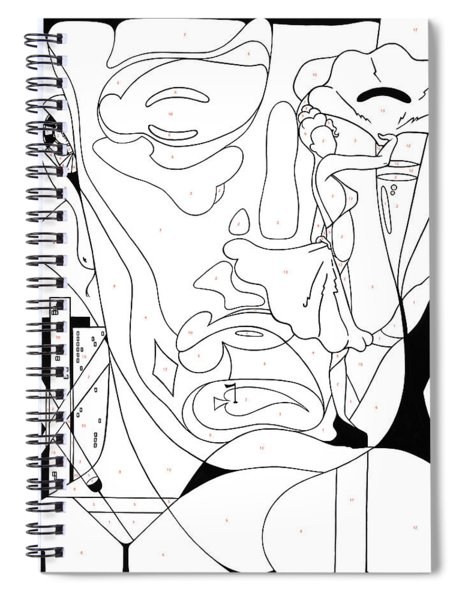 Paint By Number Las Vegas Spiral Notebook