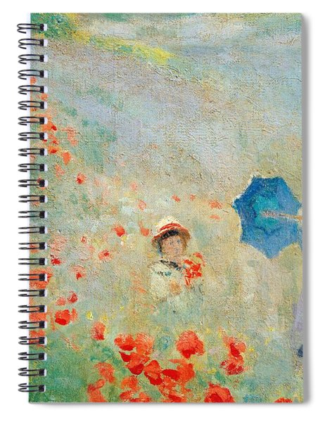 Poppies At Argenteuil Spiral Notebook