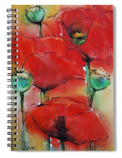 Poppies I Spiral Notebook
