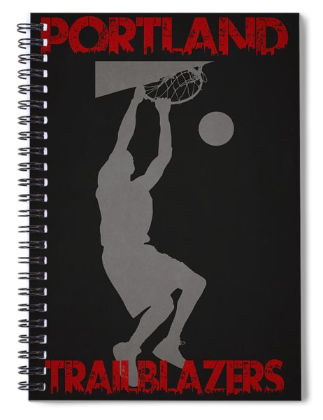 Portland Trailblazers Spiral Notebook