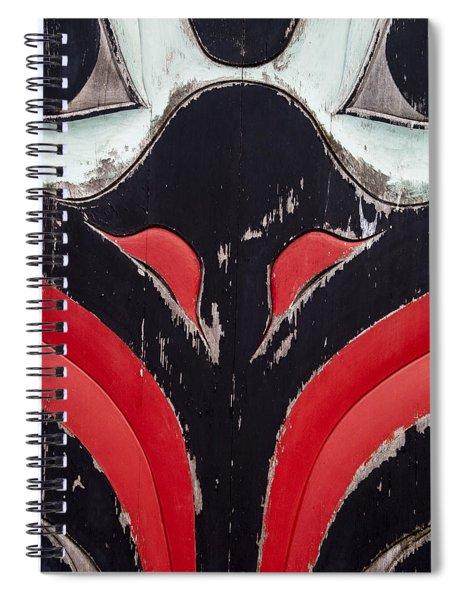 Raven Totem Figure Spiral Notebook